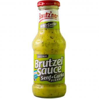 Bautzner Brutzel Sauce Pikant Senf+Gurke 250ml