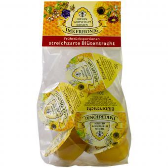 Bienenwirtschaft Meißen Imkerhonig Frühstücksportionen streichzarte Blütentracht 100g