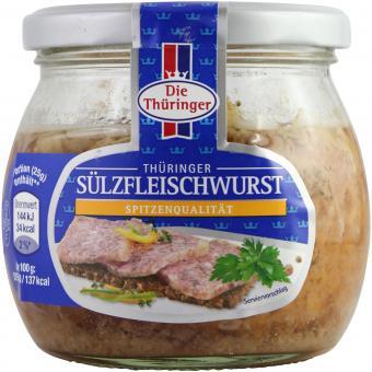 Die Thüringer Thüringer Sülzfleischwurst im Glas 300g