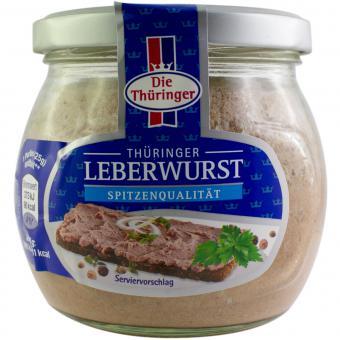 Die Thüringer Thüringer Leberwurst im Glas 300 g