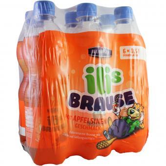Ileburger Sachsenquelle Ilis Brause mit Apfelsinen Geschmack 6x0,5 Liter incl. Pfand