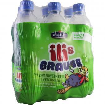 Ileburger Sachsenquelle Ilis Brause mit Waldmeister Geschmack 6x0,5 Liter incl. Pfand