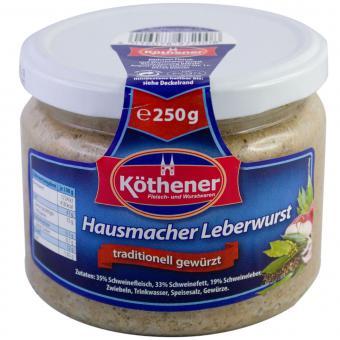 Köthener Hausmacher Leberwurst 250g Glas