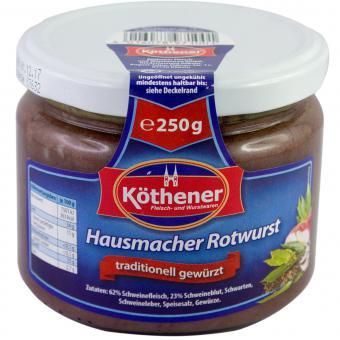 Köthener Hausmacher Rotwurst 250g Glas