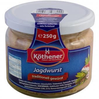 Köthener Jagdwurst 250g Glas