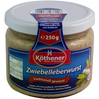 Köthener Zwiebelleberwurst 250g Glas