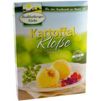 Mecklenburger Küche Kartoffel Klöße halb & halb für 8 Klöße