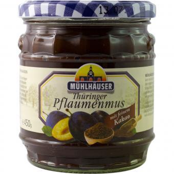 Mühlhäuser Thüringer Pflaumenmus (gewürzt) mit Kakao 450g
