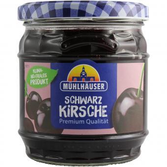 Mühlhäuser Schwarzkirsche Marmelade Extra-Konfitüre 450g