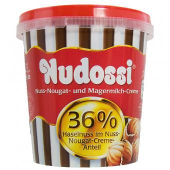 Nudossi Nuss-Nougat- und Magermilch-Creme 350g