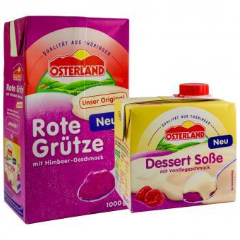 Osterland Set: Rote Grütze 1000g + Dessert Soße 500ml