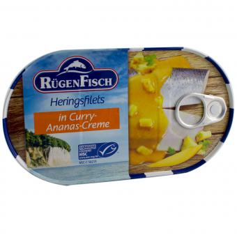 RügenFisch Heringsfilets in Curry-Ananas-Creme 200g