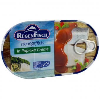 RügenFisch Heringsfilets in Paprika-Creme 200g