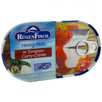 RügenFisch Heringsfilets in Tomaten-Curry-Creme 200g