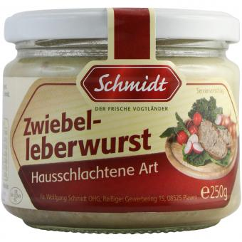Schmidt Zwiebelleberwurst Hausschlachtene Art 250g