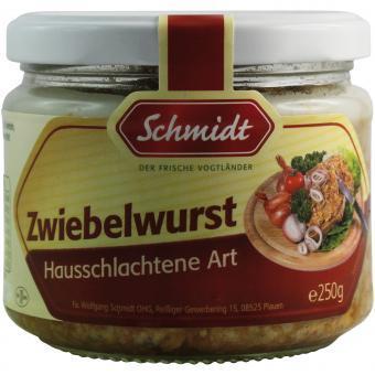Schmidt Zwiebelwurst Hausschlachtene Art 250g