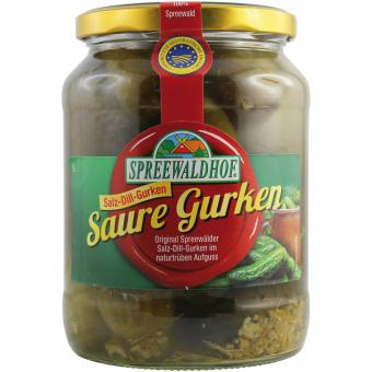 Spreewaldhof Saure Gurken 720ml-Glas