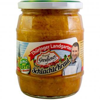 Thüringer Landgarten SchlachteKraut mit original Greußener Edel Salami 580ml-Glas
