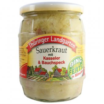 Thüringer Landgarten Sauerkraut mit Kasseler 580ml-Glas