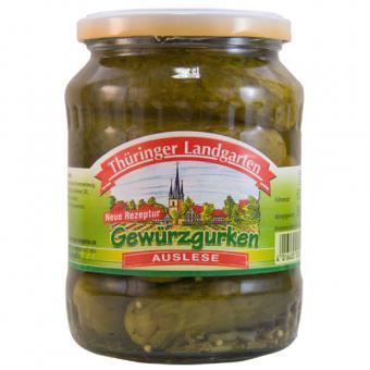 Thüringer Landgarten Gewürzgurken Auslese 720ml-Glas