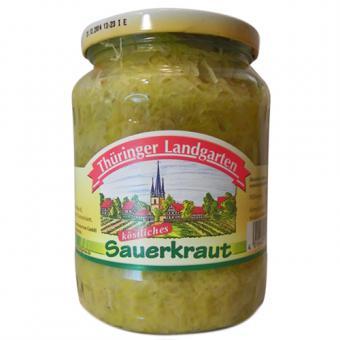 Thüringer Landgarten Sauerkraut 720ml-Glas