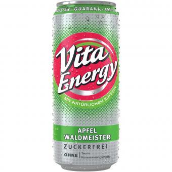 Vita Energy Apfel Waldmeister zuckerfrei 0,33 Liter incl. Pfand