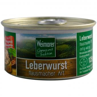 Weimarer Leberwurst Hausmacher Art 125g