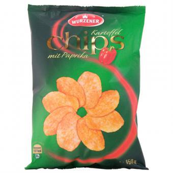 Wurzener Kartoffel Chips mit Paprika 150 g